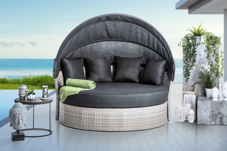 Outdoor Sonneninsel PLAYA LIVING 165cm anthrazit inkl. Kissen und drehbarer Sitzfläche