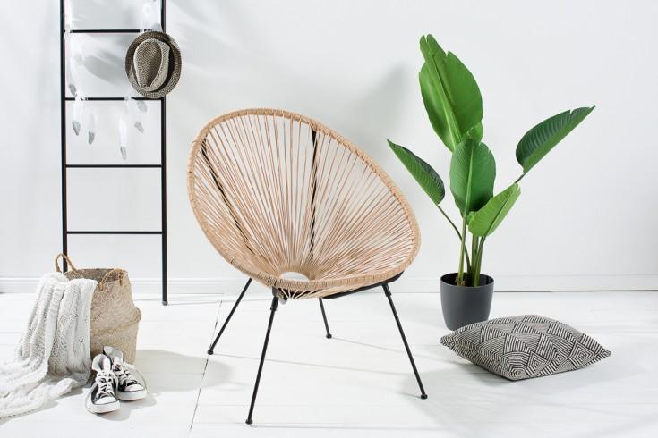 Moderner Designklassiker ACAPULCO Sessel natur Gartenstuhl wetterfest