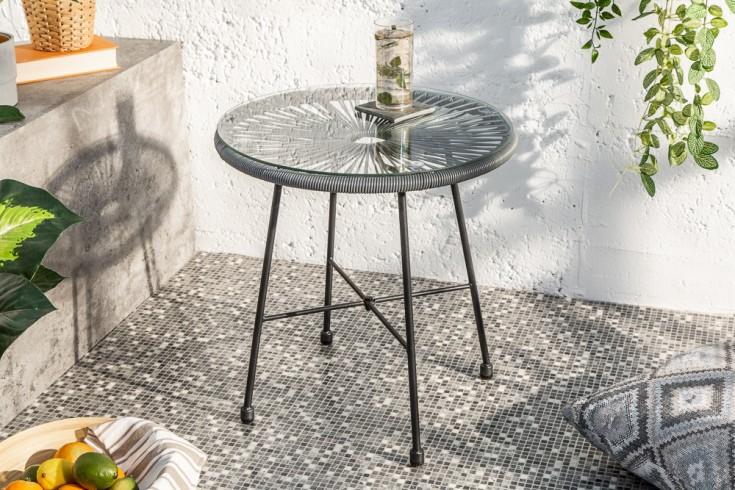 Filigraner Gartentisch ACAPULCO 51cm anthrazit Outdoor Tisch Designklassiker