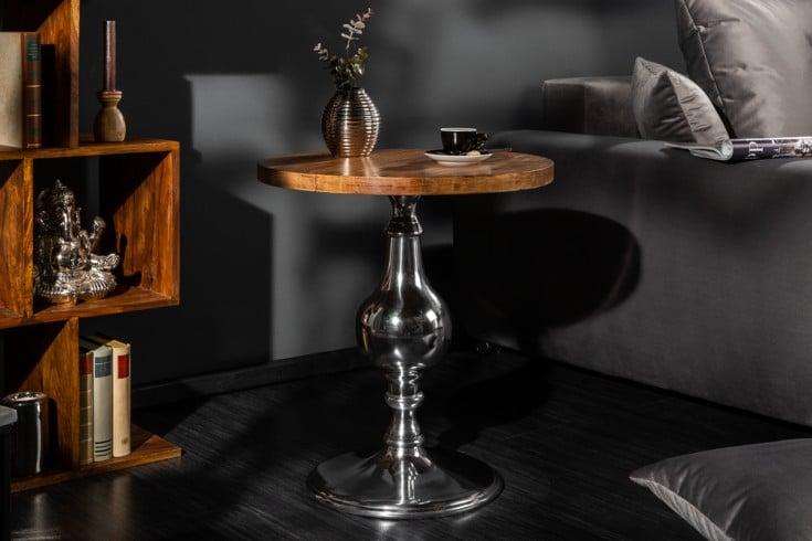 Eleganter Design Beistelltisch EXTRAVAGANCIA 51cm Mangoholz