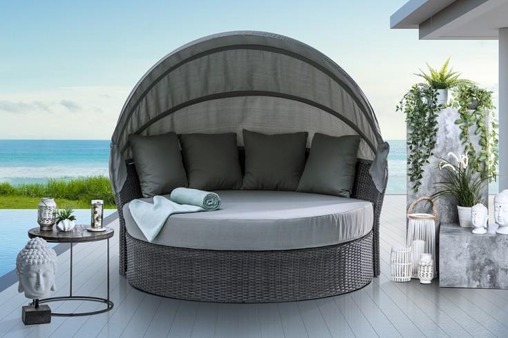 Outdoor Sonneninsel PLAYA LIVING M 165cm grau inkl. Kissen und drehbarer Sitzfläche