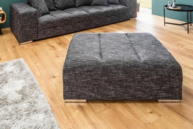Hocker zum Sofa BIG SOFA ISLAND 120cm Strukturstoff grau charcoal