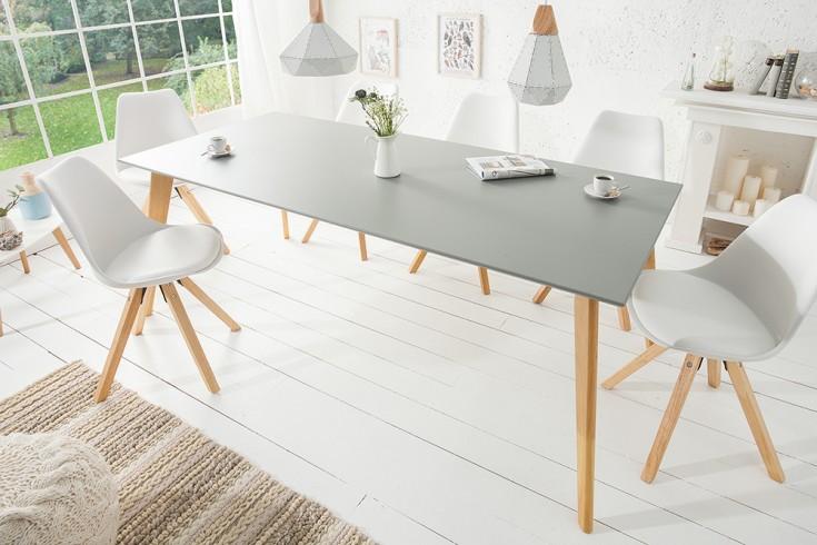 Moderner Esstisch SCANDINAVIA MEISTERSTÜCK 200cm grau Eiche Scandi Design