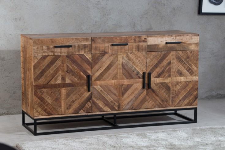Massives Sideboard INFINITY 160cm Mangoholz Industrial Design