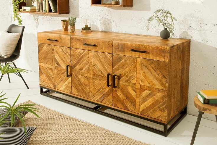 Massives Sideboard INFINITY HOME 160cm Mangoholz Industrial Design
