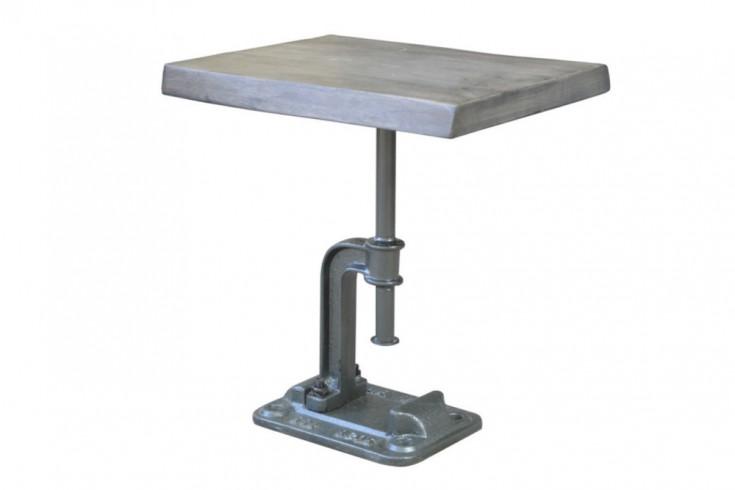 Authentischer Beistelltisch FACTORY 43cm Akazie grau Massivholz Industrial Design