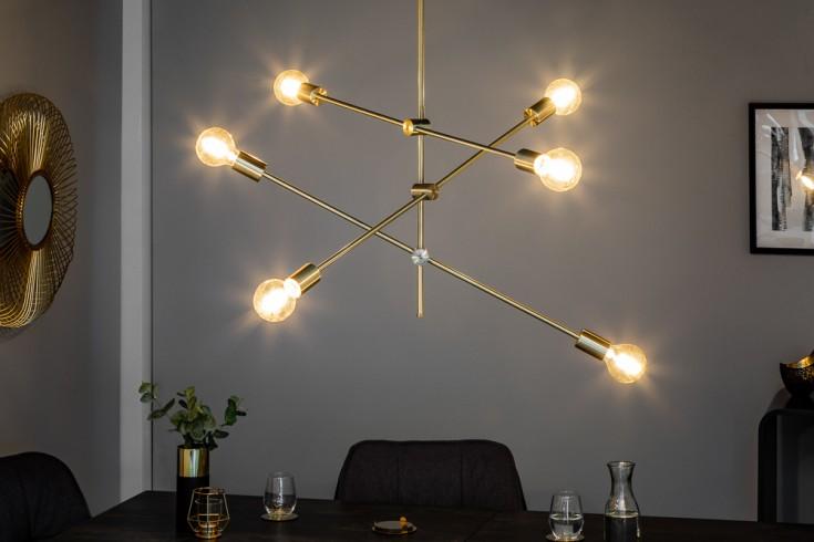 Futuristische Hängeleuchte VARIATION gold mit sechs Leuchten