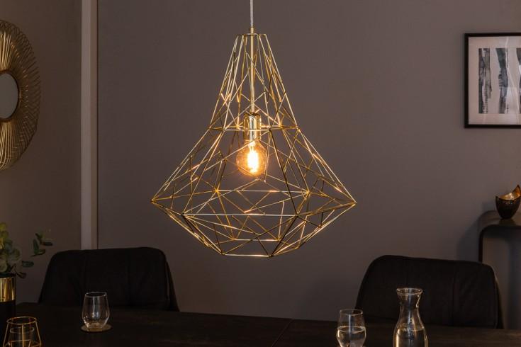 Filigrane Hängeleuchte CAGE L gold Industrial Design