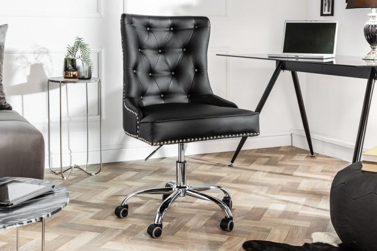 Höhenverstellbarer Bürostuhl VICTORIAN schwarz mit Armlehne