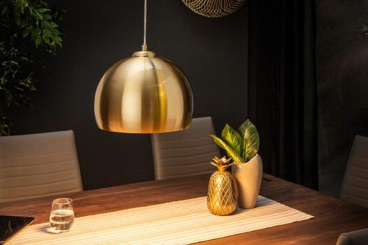 Moderne Hängeleuchte GOLDEN BALL 30cm gold Hängelampe höhenverstellbar
