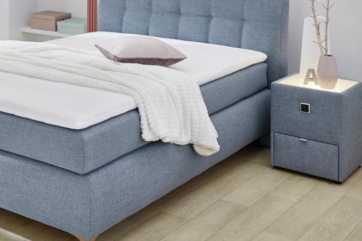 Moderner Nachttisch SCANDINAVIA 42cm blau mit indirekter Beleuchtung