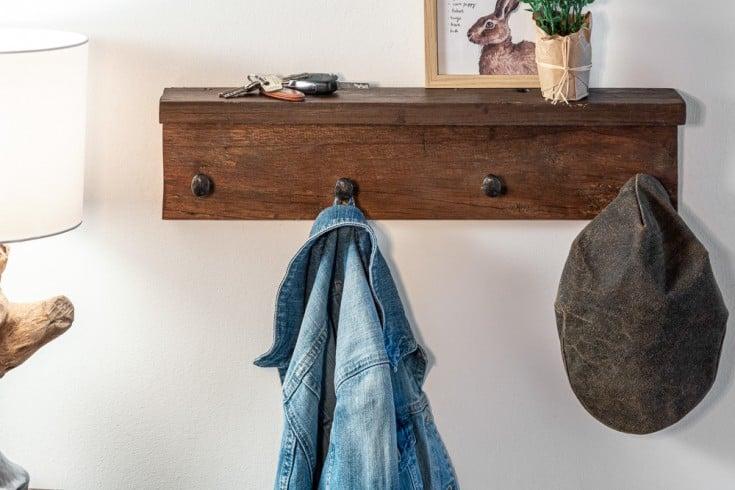 massive wandgarderobe hemingway 60cm natur mahagoni mit. Black Bedroom Furniture Sets. Home Design Ideas