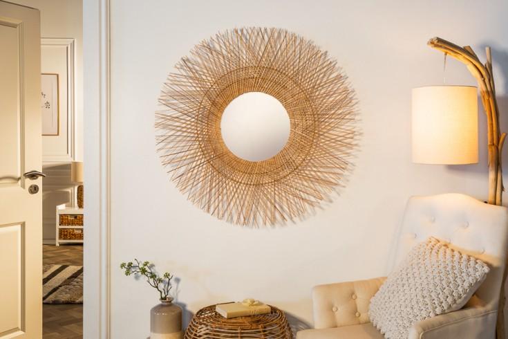Handgefertigter Wandspiegel PURE NATURE 85cm aus Kokosfasern