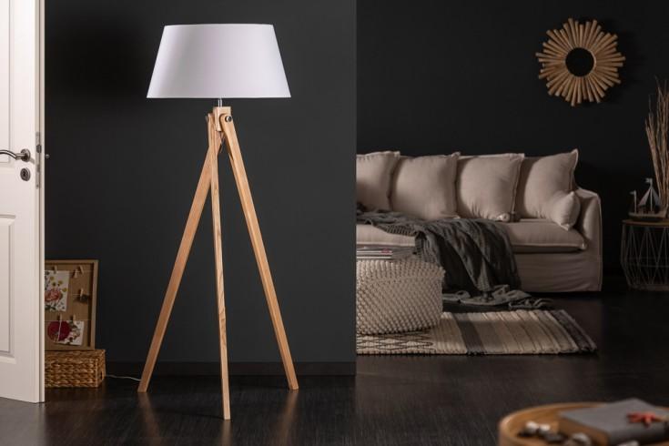 Elegante Stehlampe TRIPOD 155cm weiß Retro Stehleuchte