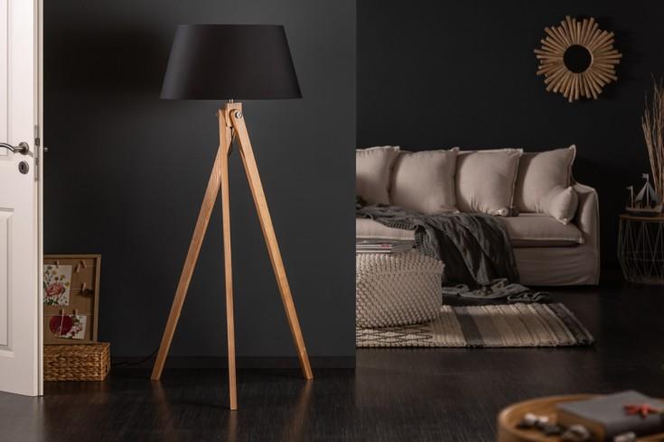 Elegante Stehleuchte TRIPOD 155cm schwarz Retro Stehlampe