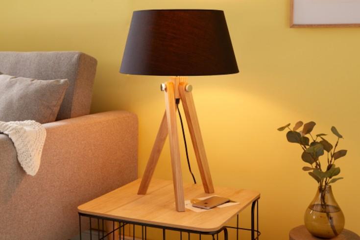 Elegante Tischleuchte TRIPOD 64cm schwarz Retro Tischlampe