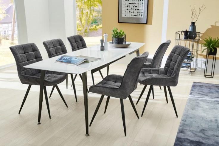 ausziehbarer esstisch continental 160 200 240cm wei. Black Bedroom Furniture Sets. Home Design Ideas