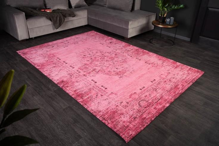 Eleganter Baumwoll-Teppich POP ART 240x160cm pink orientalisches Muster