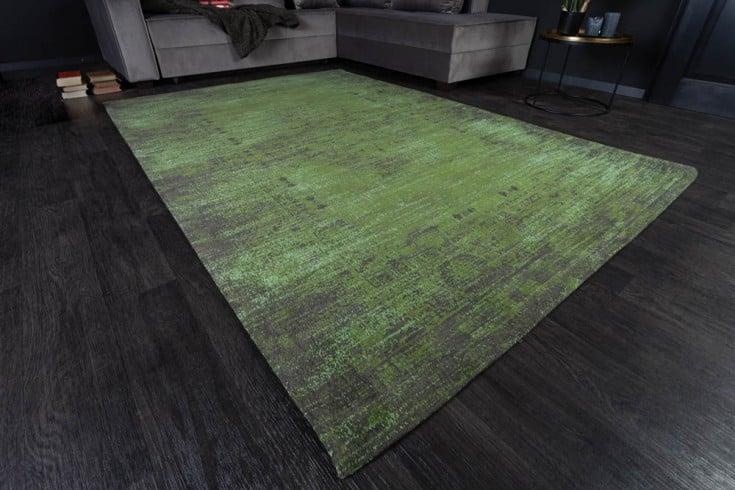 Eleganter Baumwoll-Teppich POP ART 240x160cm smaragdgrün orientalisches Muster