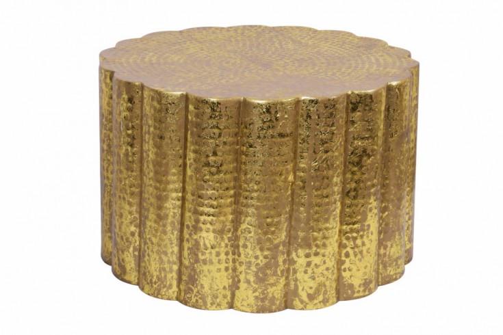 Handgefertigter Couchtisch LIQUID LINE 60cm gold Blattgoldoptik Shabby Chic