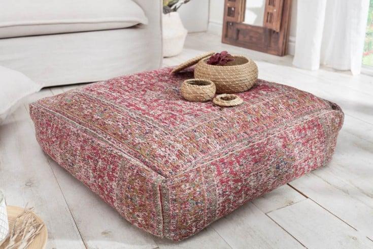 Orientalisches Bodenkissen XL OLD MARRAKESCH 70cm rot florales Muster Sitzkissen