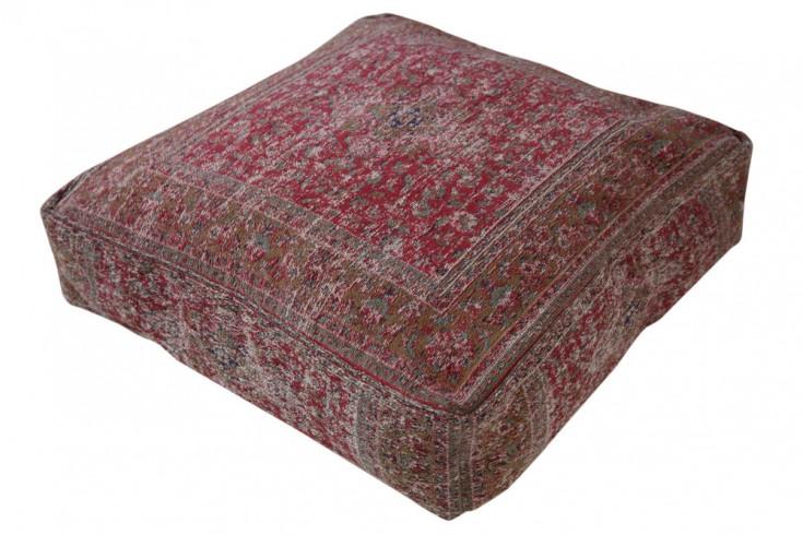 Orientalisches Bodenkissen OLD MARRAKESCH 70cm rot florales Muster Sitzkissen
