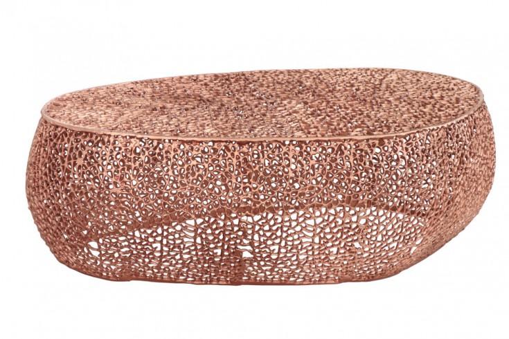 Filigraner Design Couchtisch LEAF 122cm kupfer Handarbeit