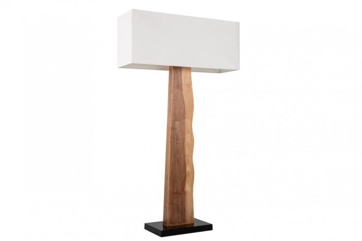 Natürliche Stehlampe ORGANIC LIVING 147cm beige Massivholz mit Leinenschirm