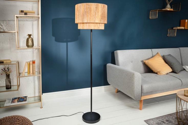 Design Stehlampe PURE NATURE 150cm runder Schirm Boheme Look