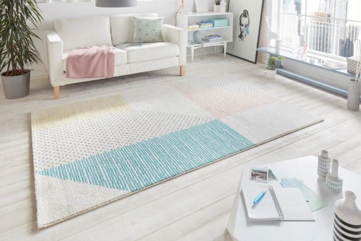 Moderner Teppich SCANDINAVIA 230x160cm beige bunt geometrische Muster