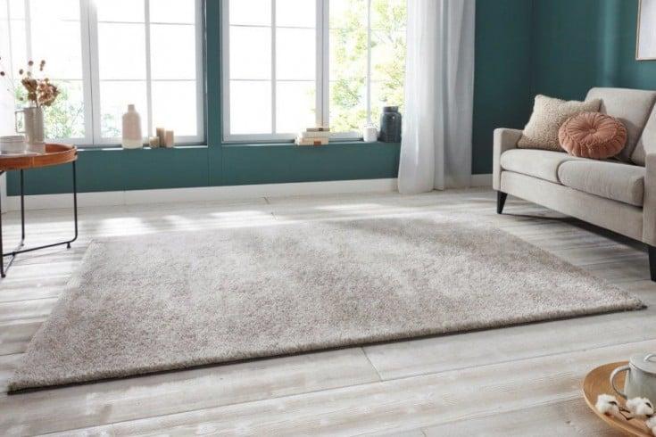 Moderner Hochflor Teppich PURE UNIQUE 230x160cm silber beige