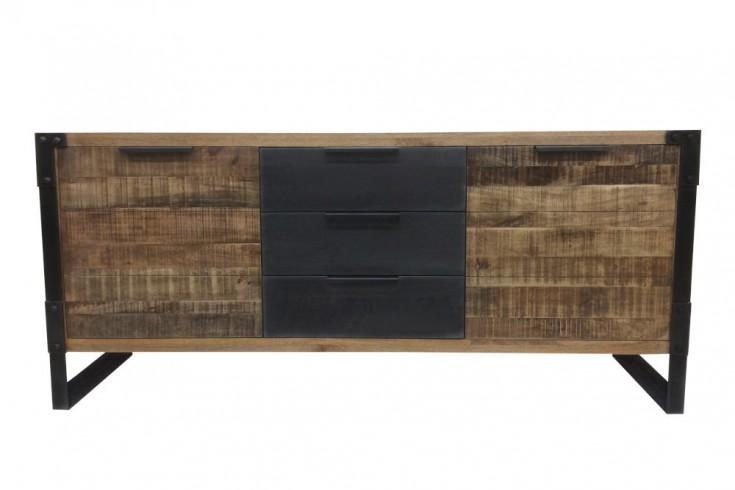 Massives Sideboard FACTORY 180cm Mangoholz Industrial Design