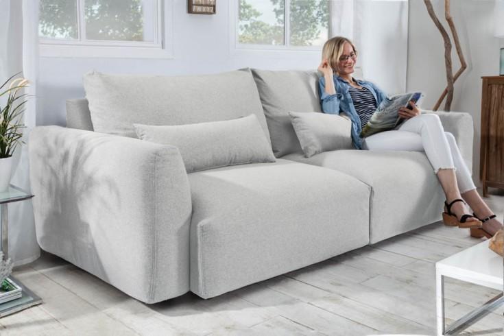 Modernes 3er Sofa HAMPTONS 240cm greige 3-Sitzer inkl. Kissen