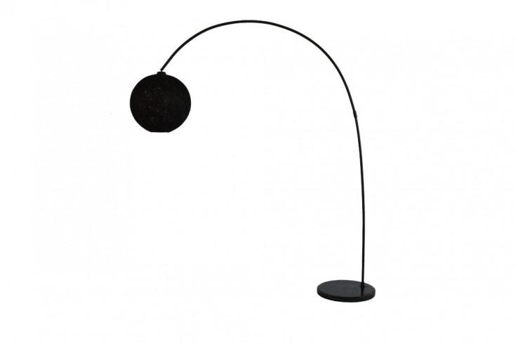 Filigrane Stehlampe COCOONING 205cm schwarz Kugelleuchte