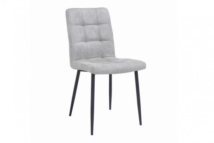 Retro Design Stuhl MODENA stone grau mit Ziersteppung