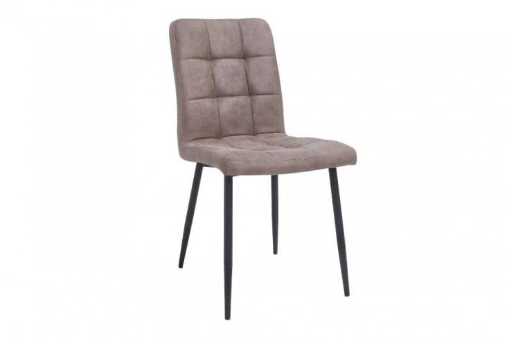 Retro Design Stuhl MODENA antik taupe mit Ziersteppung