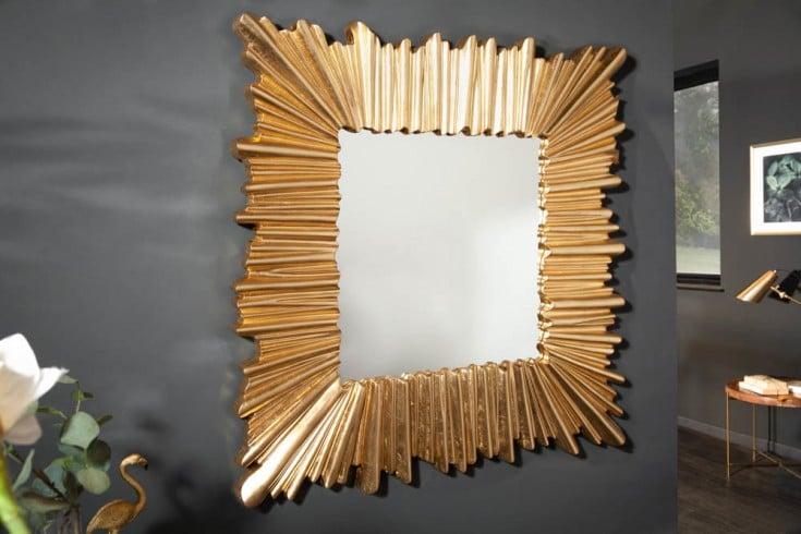 Moderner Wandspiegel VENICE 96cm gold mit auffälligem Rahmen