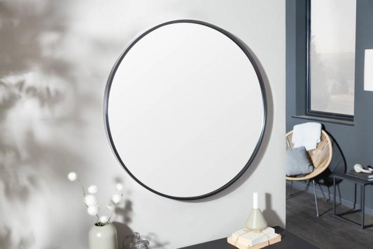 Moderner Wandspiegel NOEMI 80cm schwarz rund
