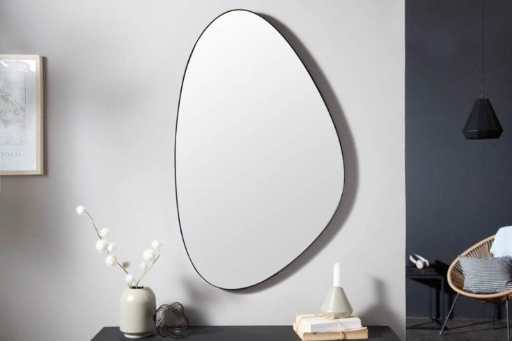 Moderner Wandspiegel NOEMI 90cm schwarz asymmetrisches Design