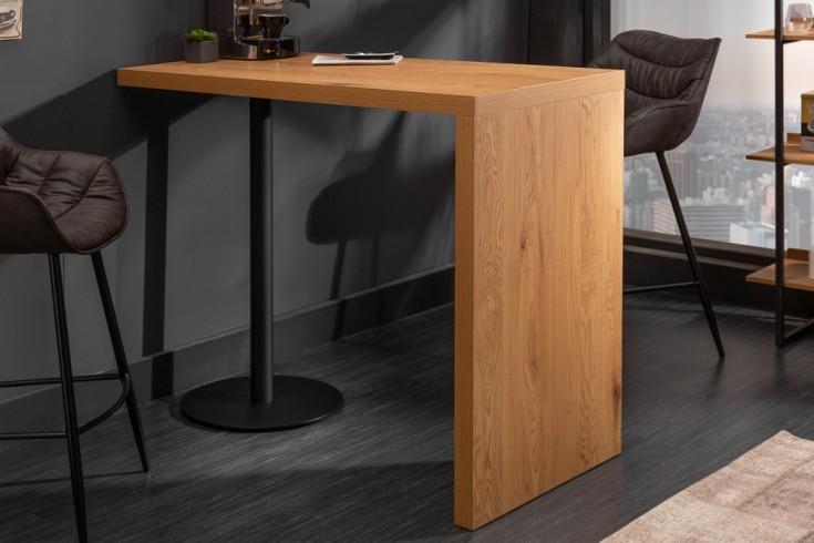 Design Bartisch MAGNUS 120cm Eichenoptik Stehtisch schwarzer Fuß