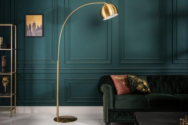 Elegante Bogenlampe LOUNGE DEAL 205cm gold Stehlampe