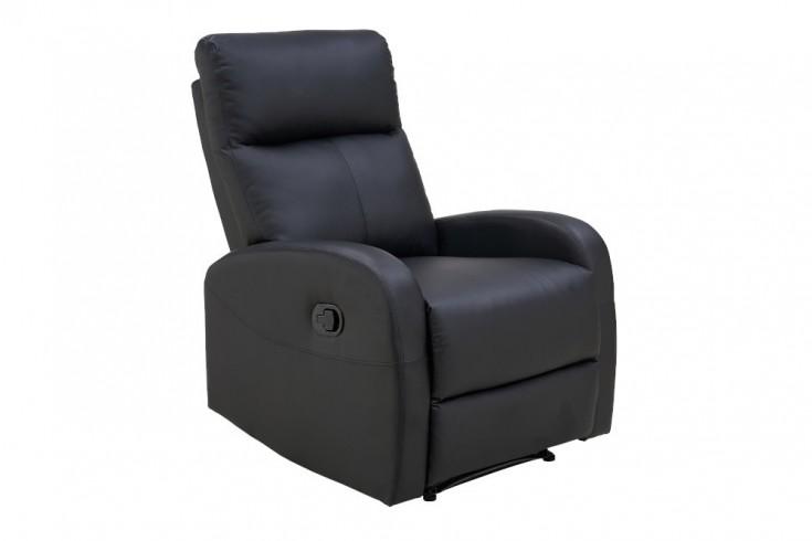 Moderner Relaxsessel HOLLYWOOD II schwarz Fernsehsessel mit Liegefunktion