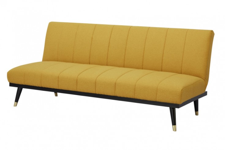 Elegantes 3er Sofa PETIT BEAUTÉ 180cm senfgelb Schlafsofa