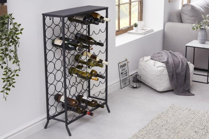 Industrial Weinregal STORAGE 102cm schwarz Flaschenhalter für 54 Flaschen