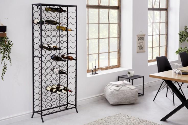Industrial Weinregal STORAGE 182cm schwarz Flaschenhalter für 102 Flaschen