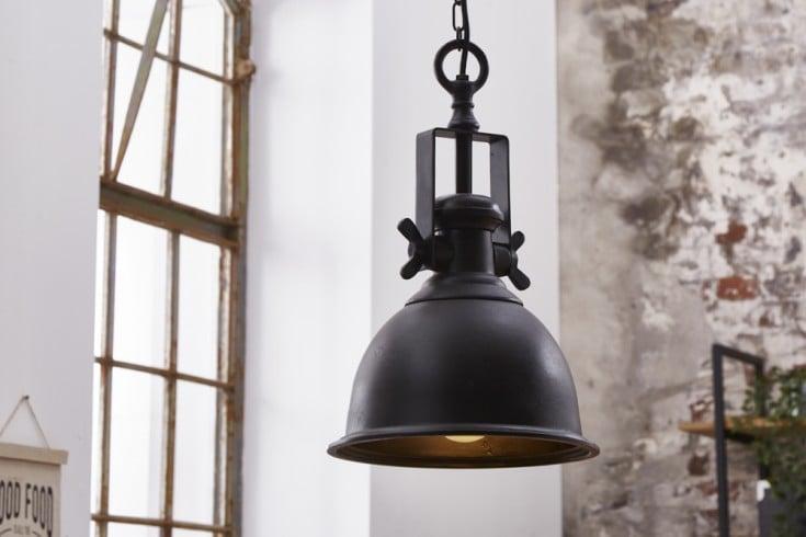 Design Hängelampe INDUSTRIAL 45cm schwarz Industrial Stil