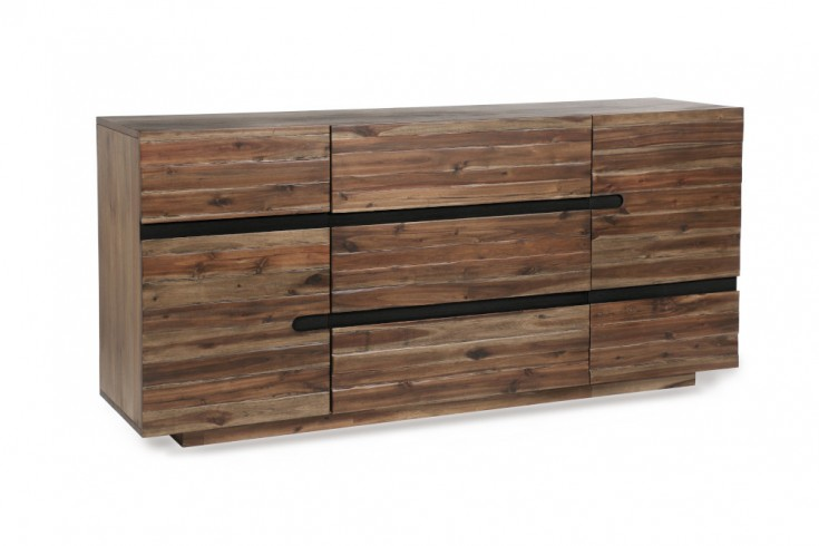 Massives Sideboard WOTAN 170cm Akazie verwittert Industrial Design