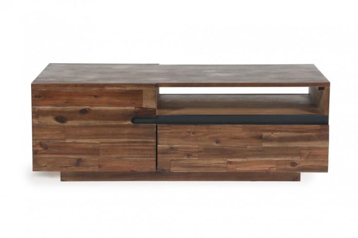 Massiver Couchtisch WOTAN 115cm Akazie verwittert Industrial Design