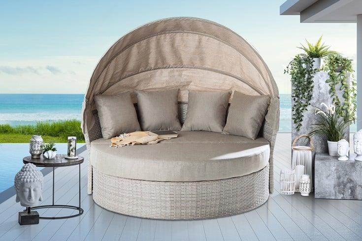 Outdoor Sonneninsel PLAYA LIVING 165cm natur inkl. Kissen und drehbarer Sitzfläche