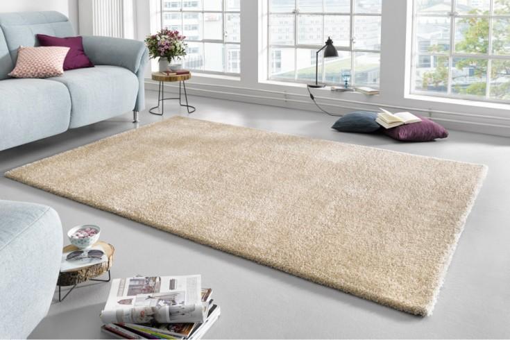 Moderner Hochflor Teppich PURE UNIQUE 230x160cm beige